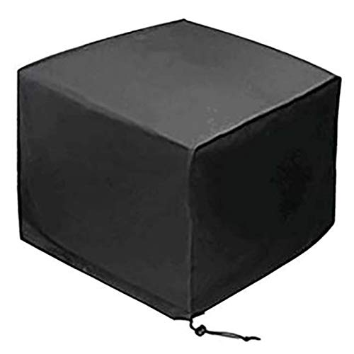 WZDD Funda De Muebles Jardin Impermeable 274x208x70cm, Cubierta De Muebles De Mesas Rectangular, Anti-UV Protección Fundas para Mesa De Jardin Y Sillas, Cuadrada Negro