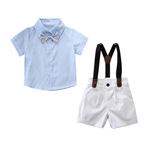 Black Friday Limited Deals Kleinkind Baby Jungs Shirt + Kurze Hosen Gentleman Party Passen Outfit Kleider