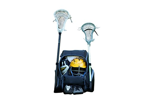 Throwback Gametime Pack XL- Multi-sport Athlete Backpack with Cooler- Includes Holders for Bats, Lacrosse & Field Hockey sticks, Tennis rackets or space for all your soccer gear + Separate Shoe Compartment