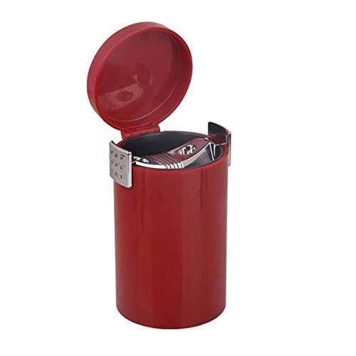 Xcwsmdq Mülleimer Tragbare Auto-Aschenbecher Geschlossen Große Kapazität Abnehmbarer Abfalleimer Sundries Lagercontainer Autoinnenausstattung Reinigungsmittel (Color Name : Red)