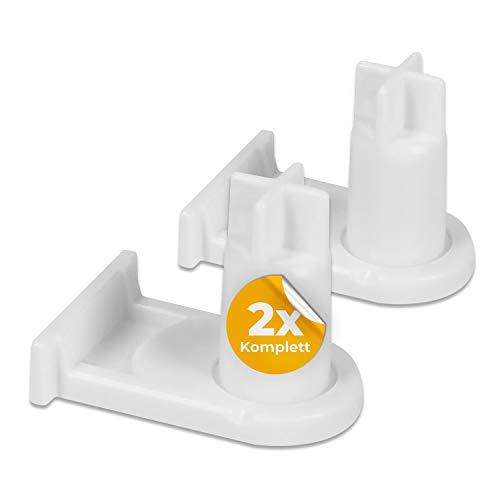 2 piezas de bisagra de puerta hembra de repuesto para Bosch 00169301 169301 Miele 5384490 bisagra de puerta de frigorífico