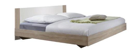 Wimex Bett/ Doppelbett Franziska, Liegefläche 160 x 200 cm, Eiche Sägerau/ Absetzung Alpinweiß