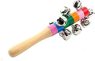 مجموعة خشخيشات لألعاب الأطفال بأجراس خشبية ملونة مجموعة ألعاب موسيقية للأطفال الرضع وألعاب الأطفال حديثي الولادة