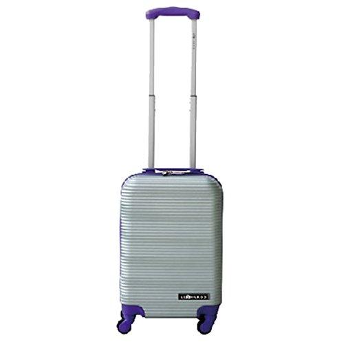 Leonardo Handbagage koffer duo-tone zilver / paars (DSS-DS40936)