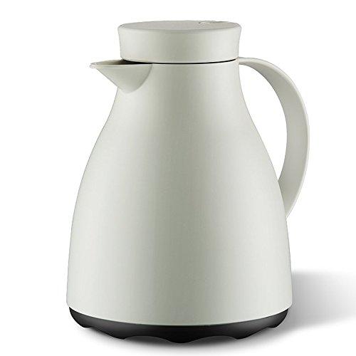 Emsa 507591 Isolierkanne, 1 Liter, Quick Tip Verschluss, 100% dicht, Cremeweiß, Easy Clean