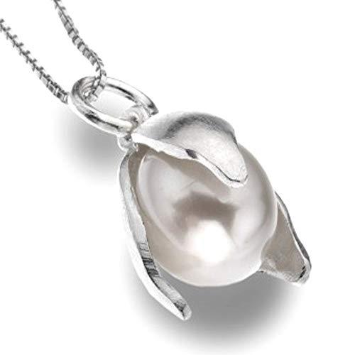 Pure Origins in argento Sterling e perle e pendente Snowdrop