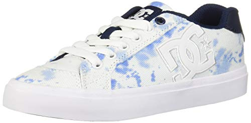 DC Women's Chelsea Plus TX SE Skate Shoe, Washed Indigo, 5.5 M US