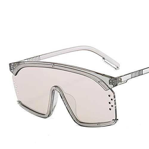 ShZyywrl Gafas De Sol De Moda Unisex Gafas De Sol De Ojo De Gato Gafas De Sol Hombres Mujeres Moda De Una Pieza Gafas De Sol De Gran Tamaño Coloridas Sombras U