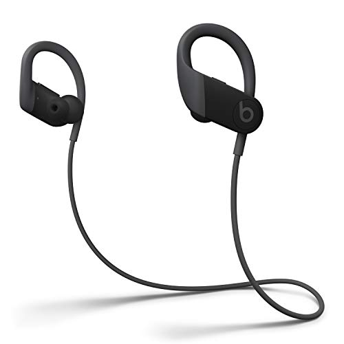 Powerbeats High-Performance Wireless Earphones - Apple H1 Headphone Chip, Class 1 Bluetooth, 15 Hours of Listening Time, Sweat Resistant Earbuds, Built-in Microphone - Black