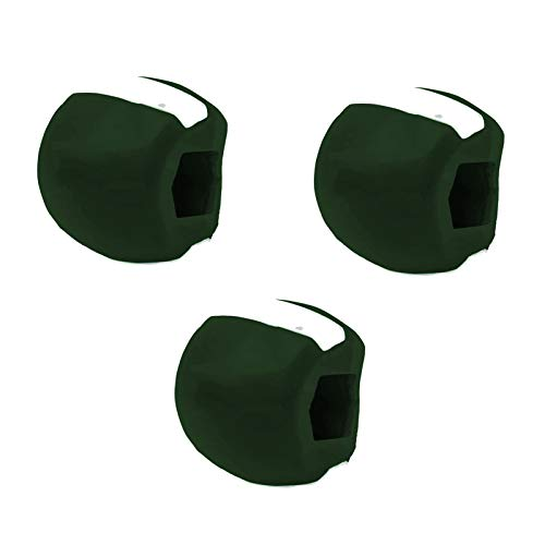 VNNV Exerciseur de mâchis à mâchoire à Double Menton pour Exercices de mâchoires pour Exercices de jawline Exercices de Formation articulaire de périphérique de Formation Dark Green