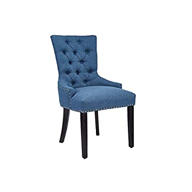CangLong Modern Elegant Button-Tufted Upholstered Fabric With Nailhead Trim Dining Side Chair for Dining Room Accent…
