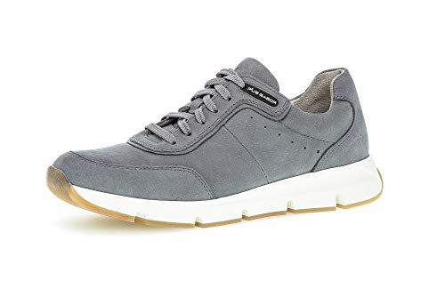 Gabor Pius Herren Halbschuhe, Männer Sneaker Low,zertifiziertes Leder,Latex Wechselfußbett,Freizeitschuhe,Men,Man,schnürer,Platin,41 EU / 7.5 UK