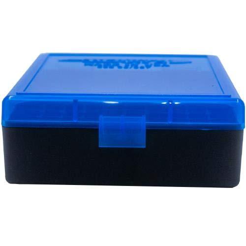 BERRY S Plastic Ammo Box, Blue Black 100 Round 38 357 (1)