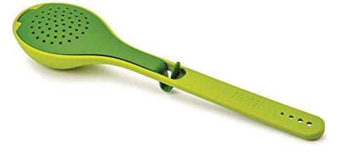 Joseph Joseph Gusto Cucchiaio Infusore, Silicone, Verde, 3 x 6.5 x 27 cm