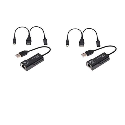 prasku 2X Adaptador Ethernet Y Cable USB Reducen El Almacenamiento en Búfer para Fire Stick 2 / Fire TV 3