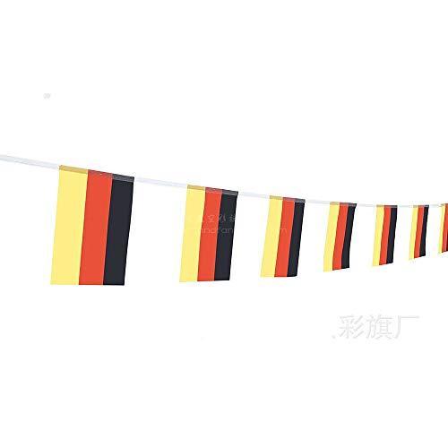 Jeeke Deuschland Flagge 14 * 21cm Perfekte Dekoration für Party (20 Flaggen)
