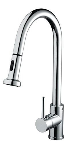 Bristan APR PULLSNK C Apricot Professional Kitchen Sink Mixer Tap with Pull Out Hose and Spray Function, Chrome
