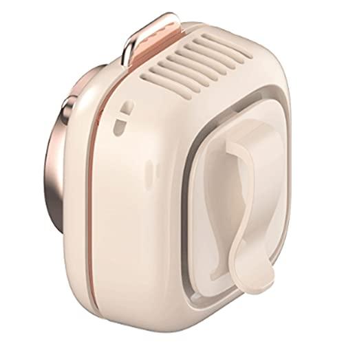 Ventilador para colgar en el cuello, clip fijo USB portátil, silencioso, refrigeración, aire acondicionado, estudiantes de verano sin hojas de ventilador (color rosa, tamaño: 64 x 70 x 60 mm)