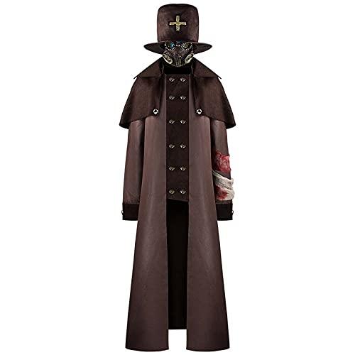 Disfraz de médico de la Peste, Traje Largo, Capa, máscara Steampunk, Disfraces de Cosplay de médico de Plaga, Disfraces de Halloween, SCP - 1