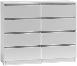 comprar comparacion BIM Furniture Marbella - Cómoda con 8 cajones, 8 x 120 cm, multiusos, para dormitorio o salón