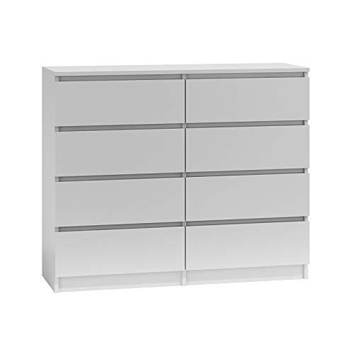 BIM Furniture Marbella - Cómoda con 8 cajones, 8 x 120 cm, multiusos, para dormitorio o salón