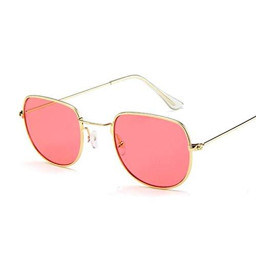 DLSM Océano Amarillo Oval Gafas de Sol Femall Gafas de Sol Rosadas para Mujer Gafas de Sol Adecuado para Pesca, Equitación, Playa de Golf-Rojo