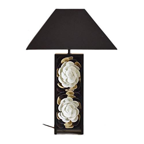 Lámpara de Mesita de Noche Zen chino de la lámpara lámpara de cabecera del dormitorio de la sala de estudio Lámpara de mesa Mesa de cuero Pantalla de lámpara de la lámpara de lino de algodón de 25,5 p