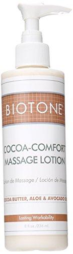 Biotone Cocoa-Comfort Massage Lotion, 8 Ounce