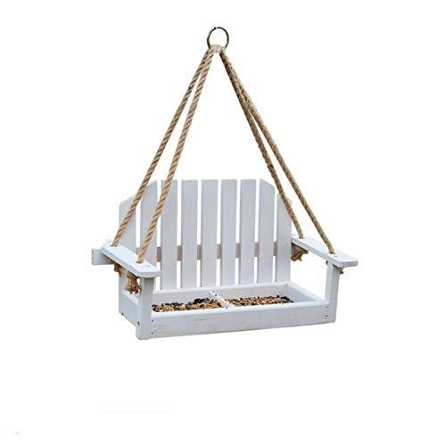Sedia Femeder per Uccelli Alimento all aperto Alimentatore Sedile Sedile Giardino Appeso Swing Bird Feeder Wooden Swing Sedia Wild Bird Feeder Porch Courtyard (Color : A)