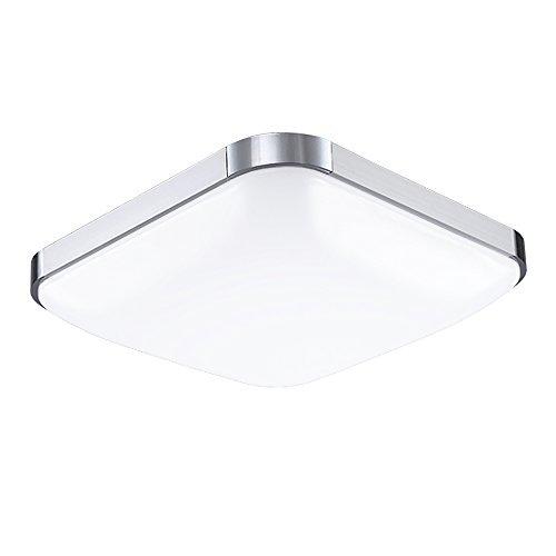 VINGO® 24W LED Deckenbeleuchtung im Wohnzimmer, 6500K, kaltweiß ,LED Wand- Deckenleuchte, IP44 Badezimmer geeignet …
