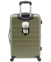 """small Wrangler 20 """"Smart Spinner Baggage with USB Charging Port, 20"""" Baggage, Olive Green"""