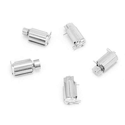 5 Unids 18500 rpm Vibración fuerte Micro Coreless Vibrador para equipos de detección de mano para buscapersonas y teclados de teléfonos móviles