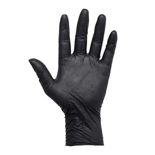 VideoPUP 100PCS Black Tattoos Piercing Gloves, Large