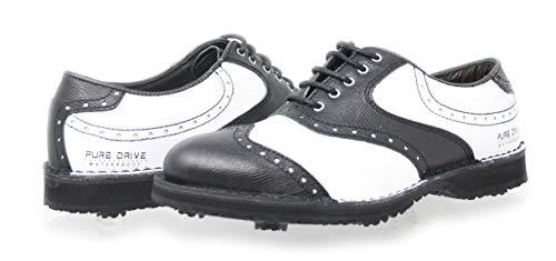 PORTMANN Prime Club Golfschuhe für Herren | Hochwertiges Leder | Pure-Drive-Tec. Vintage Black Pyton Größe: 41