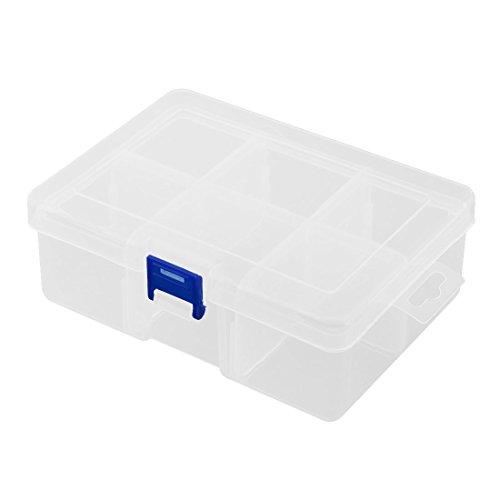 Sourcingmap 6 Compartiments Plastique Famille Collier Boucles Porte-Matériaudivers Boîte boîte Rangement
