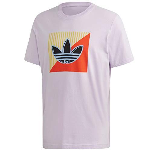 adidas Originals - Camiseta para hombre con logotipo diagonal -  Morado -  Large