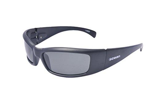 Ocean Sunglasses - Mundaka - lunettes de soleil polarisées - Monture : Noir Mat - Verres : Fumée (11500.0)