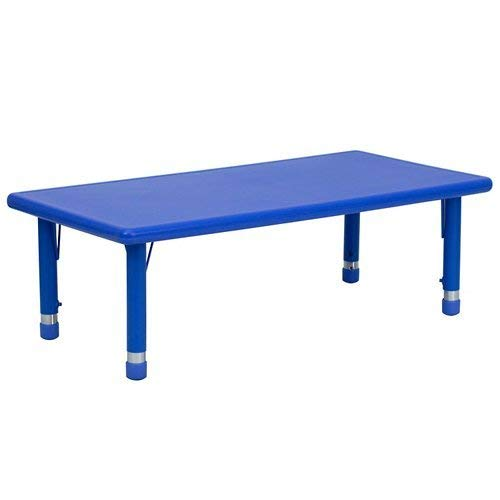 Flash Furniture YU-YCX-001-2-RECT-TBL-BLUE-
