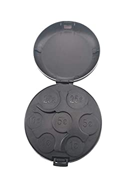 MUDOR Coin Organizer Change Holder Portable Pocket Coin Dispenser Case for U.S Quarters Dimes Nickels One Cent Coin Sorter Holder for Car