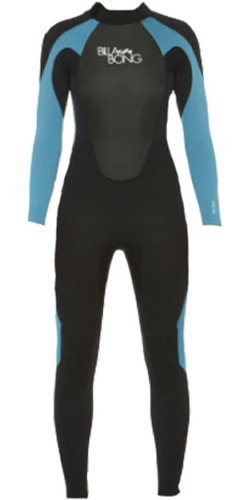 Billabong Launch Dames wetsuit met lange mouwen, GBS-technologie, 543 mm, zwart/turquoise