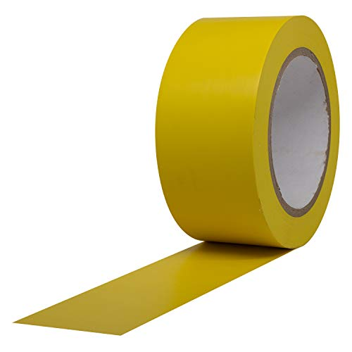 ProTapes Pro 50 Premium Vinyl Safety Marking and Dance Floor Splicing Tape, 6 mils Thick, 36 yds Length x 2' Width, Yellow (Pack of 1)