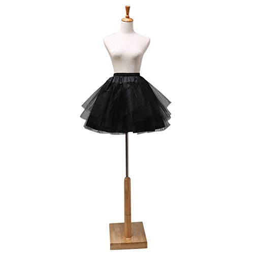 AKDSteel Frauen Zarte Tüll Short Boneless Brautkleid Petticoat Weiß 45cm für das Oktoberfest