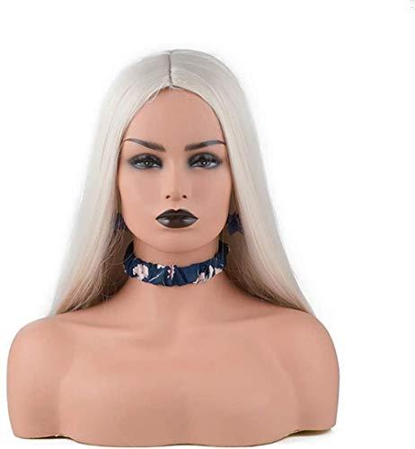 Mannequins de couture reglable Chef Mannequins, Mannequin Femme Modèle de tête for l'affichage réglable trépied sur Socle à tête for Les Perruques Affichage Chapeaux et Bijoux Echarpes Porte vêtement