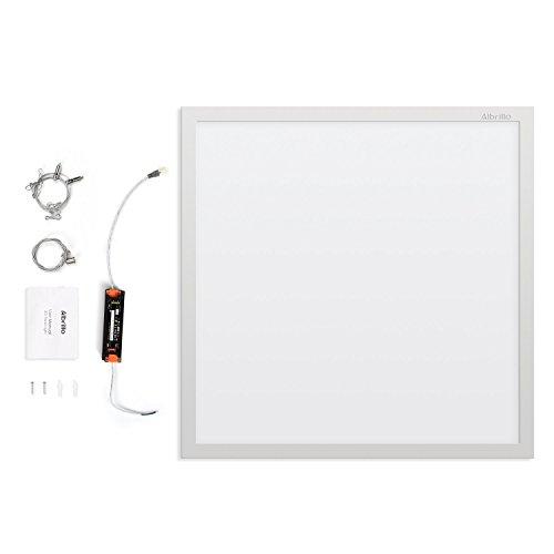 Preisvergleich Produktbild Albrillo 36W Ultraslim LED Panel - 60x60 cm / 3060 Lumen / Warmweiß 3000k LED Deckenleuchte mit Einstellbare Befestigungsmaterial und Trafo