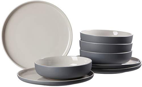 Ritzenhoff & Breker Tafelservice Jasper, 8 piezas, color gris, gres