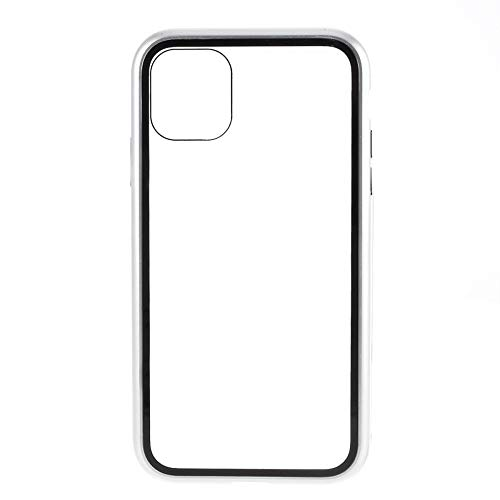 Best Shopper - Magnetic Adsorption Metal Frame Tempered Glass Phone Cover Case for Apple iPhone 11 Pro Max 6.5'' - White