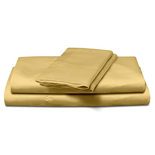 Natural Life Home 4 Piece Satin Sheet Set, California King, Bronze