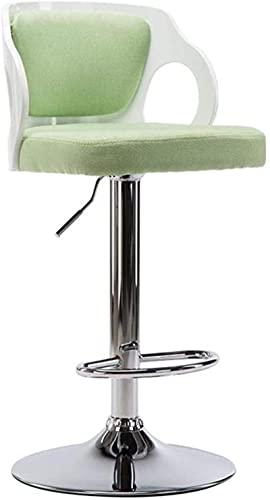 JYHJ Taburete de bar cómodo taburete, barra giratoria elevable, caja registradora, respaldo creativo, silla de cocina, desayuno, muebles decorativos (color: C) (color: D) (color: A)