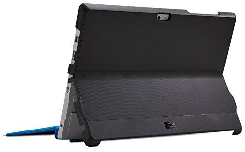 Hülle Logic KickBack Snap-On Hülle Schutzhülle für Microsoft Surface 3 (inkl. Stand-Funktion) Schwarz