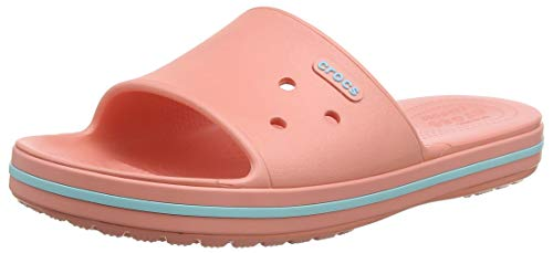 crocs Crocband III Slide, Zapatos de Playa y Piscina Unisex Adulto, Rosa (Melon/Ice Blue 7h5), 42/43 EU